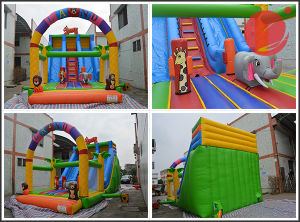 New Design Inflatable Bouncy Castle FRP Wave Slide (T4-036) pictures & photos