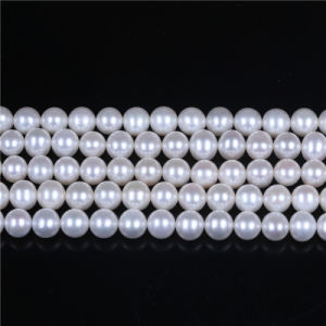 "AAA Grade White Freshwater Pearl Strand 8mm 9mm Loose Pearl 16"" Long pictures & photos"