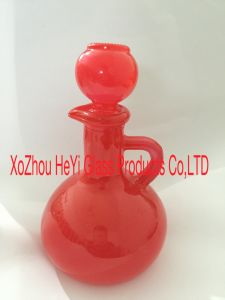 500ml High Quality Glass Oil Bottle with Glass Lid pictures & photos