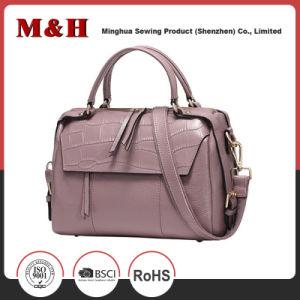 Multi-Pocketed Handy Handbag Women PU Leather Shoulder Bag pictures & photos