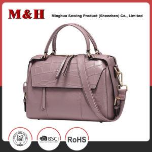 Multi-Pocketed Portable PU Leather Shoulder Lady Handbags pictures & photos