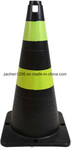 Jiachen HDPE Black 750mm 1.50kgs European Standard Traffic Cone pictures & photos
