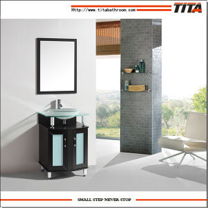 Tempered Glass Top Bathroom Cabinet T9148-48e pictures & photos