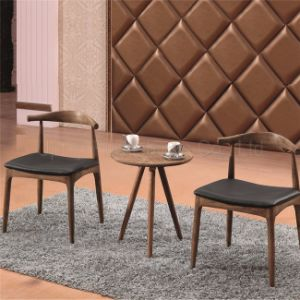 Dining Modern Cafe Tables and Chairs Cow Horn Furniture (SP-CT732) pictures & photos