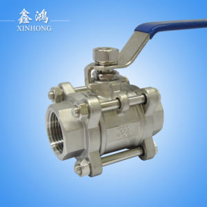 "304 Stainless Steel 3PC Thread Ball Valve Dn25 1"" pictures & photos"