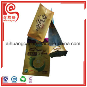 Bottom Flat Aluminum Foil Plastic Dried Fruit Chips Packaging Bag pictures & photos