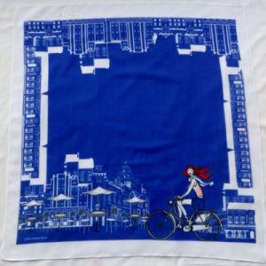 Composite Chiffon Blue Square Scarf pictures & photos