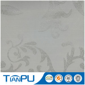 Silver-Clear 100% Polyester Jacquard Mattress Ticking Fabric pictures & photos