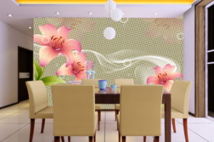3D Pink Flower and White Lip Shape Oil Painting pictures & photos