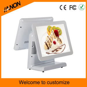 15 Inch Touch Screen Supermarket POS System Dual Screen pictures & photos