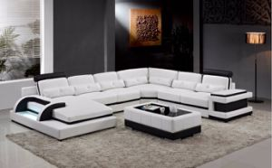 Modern Living Room Sofa with Leather Sectional Sofa for Home Sofa pictures & photos