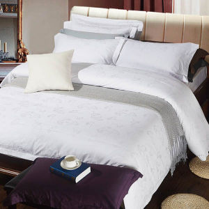 Hotel Cotton Bed Sheet Set Jacquard Bedding Hotel Bed Linen pictures & photos