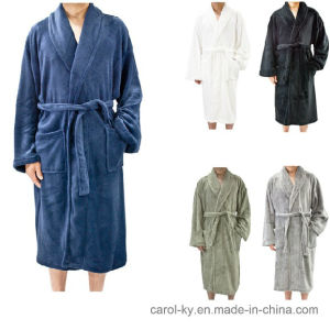 Microfible Flannel Fleece Soft Static - Free Bathrobe pictures & photos
