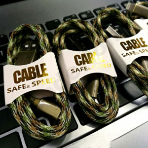 Camo Knit USB Cable for Mobile Phone pictures & photos