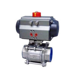 Thread Type Ball Valve with Spring Return Pneumatic Actuator pictures & photos