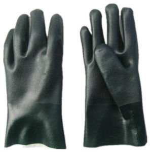 Rough Finish PVC Coated String Knit Liner Glove-5130 pictures & photos