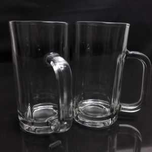 540ml with Handle Transparent Beer Cup New Glass Cup pictures & photos