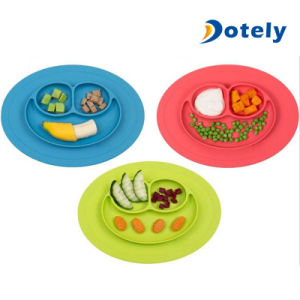Baby Feeding Tray Silicone with Built in Plate and Bowl pictures & photos