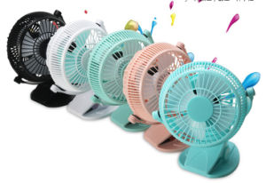 2 level wind speeding USB miniCharging fan with clamp -White pictures & photos