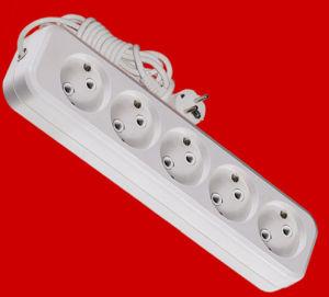 No Switch. 1.5m, 3.0m, 5.0m H05VV-F 3X1.0 Cable 5-Way Outlets (E8005E) pictures & photos