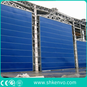 PVC Fabric Lifting Folding up Blasting Room Mega Door pictures & photos