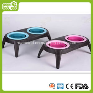 Folding Pet Double Bowl Pet Products pictures & photos