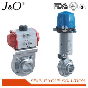 Sanitary Stainless Steel Pneumatic Butterfly Valve pictures & photos