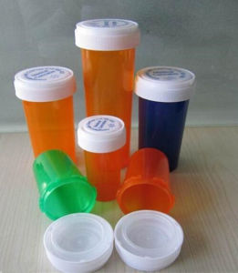 8 DRAM Prescription Pharmacy Vials with Non Child Resistant Push Down and Twist Snap Caps pictures & photos