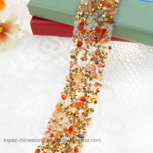 Heat Transfer Adhesive Diamond Rhinestone Sticker for Shoes Garments Wedding Dress (TS-041) pictures & photos