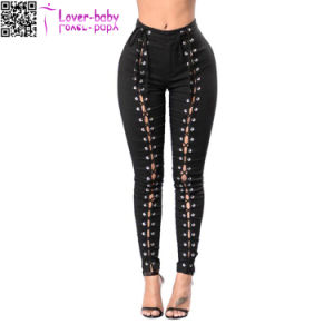 Lady′s High Quality 3 Color Jeans Wholesale China L545 pictures & photos