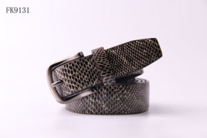 Eco-Friendly Pin Buckle Snakeskin Belt for Women PU Waist Belt Fashion Accessory pictures & photos