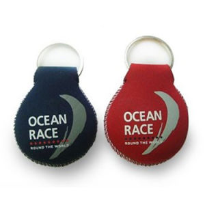 Wholesale Wrist Strap Neoprene Keychain Holder with Keyring pictures & photos