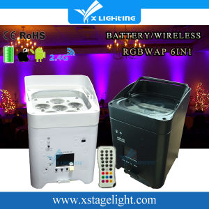 High Quality LED Wireless Battery Flat PAR DJ Light pictures & photos