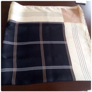 Digital Printing The Plaid Silk Scarf for Women
