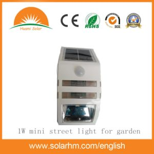 Whit Color Home Garden Used 1W LED Solar Wall Light pictures & photos