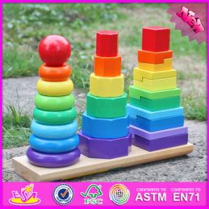 2016 Wholesale Baby Wooden Shape Sorter Toys, Kids Stacking Wooden Shape Sorter Toys, Children Best Shape Sorter Toys W13D130 pictures & photos