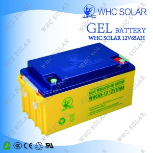 Whc 12V 65ah Long Duration Deep Cycle Solar Gel Battery for UPS pictures & photos