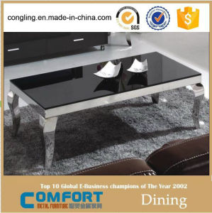 2015 Latest Golden Electroplating Tempered Hotel Furniture