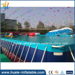 Amusement Park Water Games PVC Portable Metal Frame Swimming Pool pictures & photos