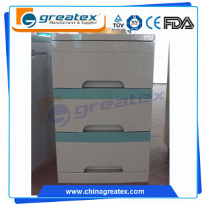 Hospital Beside Storage Cabinet Steel 3 Drawers (GT-TA100) pictures & photos