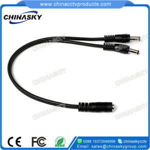 12V CCTV Male DC Power Plug Splitter Cable (SP1-2H) pictures & photos