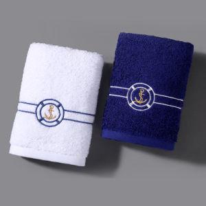 Wholesale Special Logo Cotton White Gym Towel (DPF10107) pictures & photos