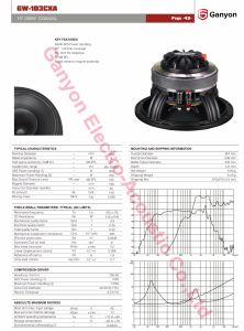 Gw-103cxa 10 Inch 350W Coaxial Loudspeaker pictures & photos