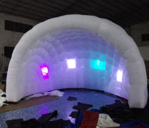 High Quality Inflatable Dome Tent with LED Light for Party