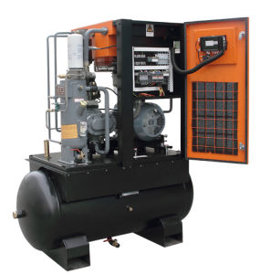 7.5kw Tank Dryer Mounted Silent Screw Air Compressor Price List pictures & photos