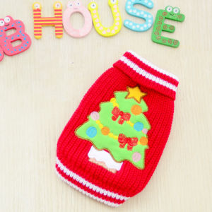 Christmas Tree Quality Red Knitting Dog Clothes for Small Puppy pictures & photos