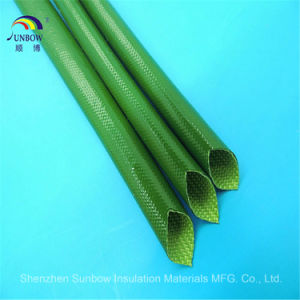Electrical Insulation 2753 Fiber Glass Silicon Resin Sleeving pictures & photos