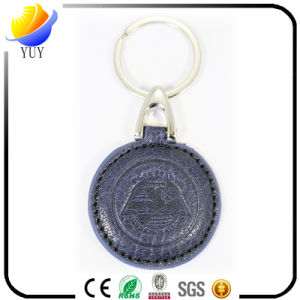 Hot Selling Round Shape and Can Be Customized Shape Leather Metal Key Chain pictures & photos