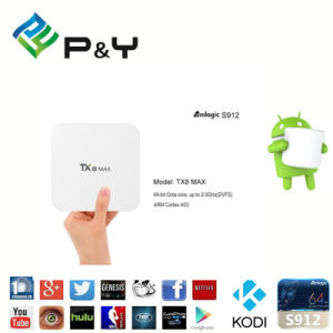 Hot Sale Model Tx8 Max 3GB DDR4 Amlogic S912 Android 6.0 TV Box with SIM Card pictures & photos