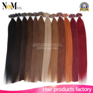 Keratin U Tip Peruvian Hair 1 Gram Each Strand Nail Tip Fusion Human Hair Extension Peruvian Kinky Straight Virgin Hair pictures & photos